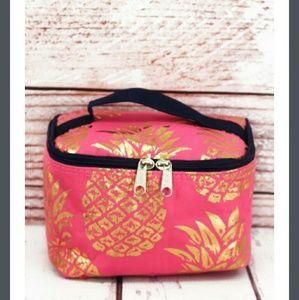 Handbags - New Pink & Gold Pineapple Case!
